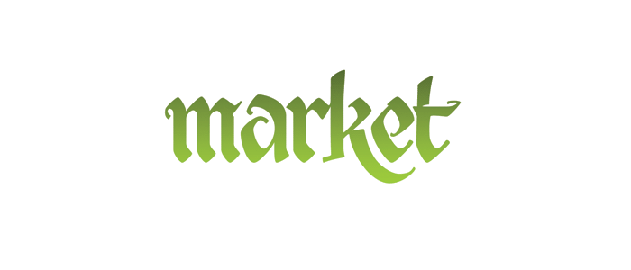 calligraphy — market — signage — outdoor advertising