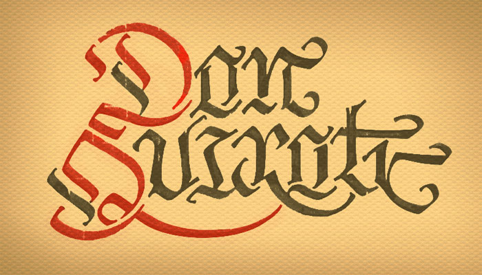 calligraphy, Don Quixote