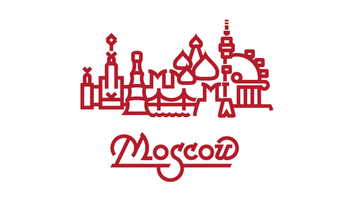 moscow logo — vector graphics, lettering, font