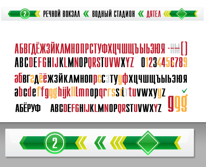moscow metro — infographics — display type