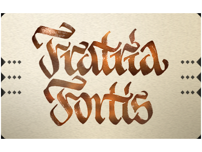 calligraphy — fratria fortis — pilot parallel pen