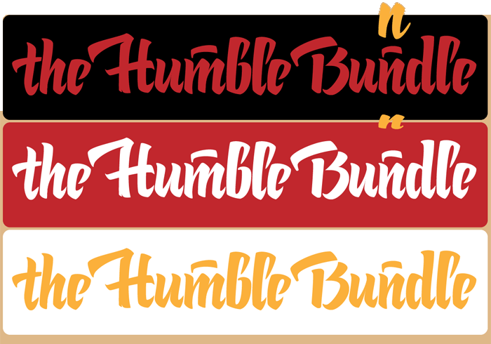 calligraphy logo — the Humble Bundle