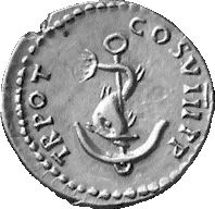 dolphin and anchor ancient coin — festina lente