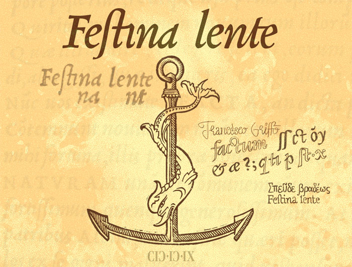 Aldus Manutius — dolphin and anchor — festina lente