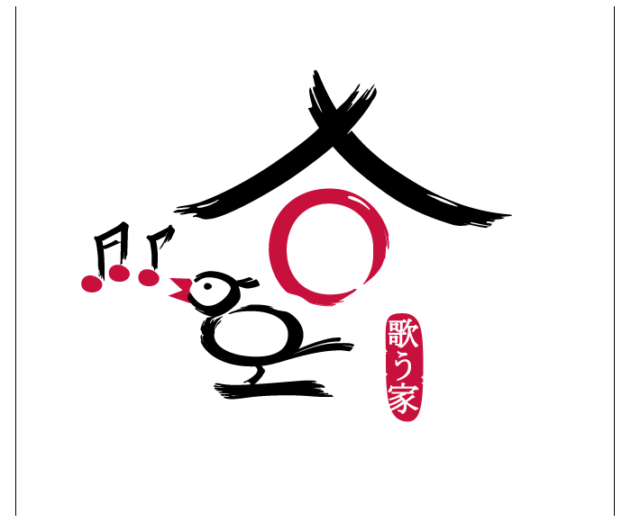 Logo in the style of Japanese calligraphy